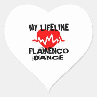 MY LIFE LINA FLAMENCO DANCE DESIGNS HEART STICKER