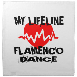 MY LIFE LINA FLAMENCO DANCE DESIGNS NAPKIN