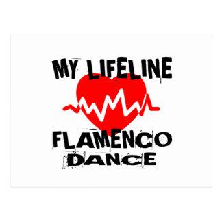 MY LIFE LINA FLAMENCO DANCE DESIGNS POSTCARD