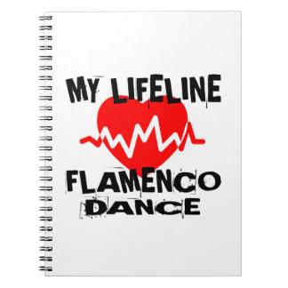 MY LIFE LINA FLAMENCO DANCE DESIGNS SPIRAL NOTEBOOK
