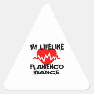 MY LIFE LINA FLAMENCO DANCE DESIGNS TRIANGLE STICKER