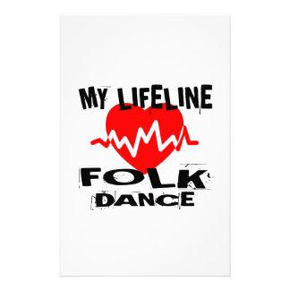 MY LIFE LINA FOLK DANCE DESIGNS STATIONERY