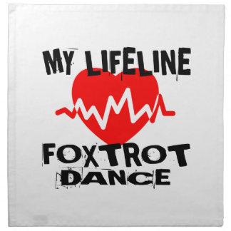 MY LIFE LINA FOXTROT DANCE DESIGNS NAPKIN