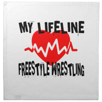 MY LIFE LINA FREESTYLE WRESTLING MARTIAL ARTS DESI NAPKIN