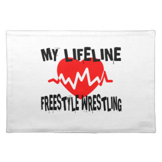MY LIFE LINA FREESTYLE WRESTLING MARTIAL ARTS DESI PLACEMAT