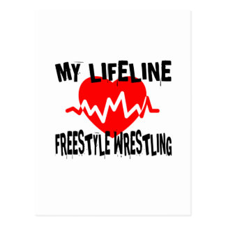 MY LIFE LINA FREESTYLE WRESTLING MARTIAL ARTS DESI POSTCARD