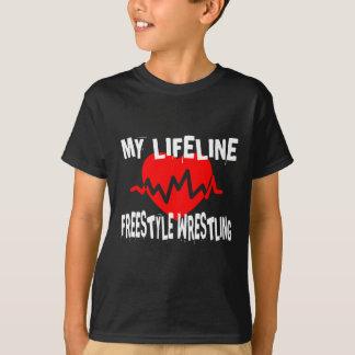 MY LIFE LINA FREESTYLE WRESTLING MARTIAL ARTS DESI T-Shirt