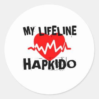 MY LIFE LINA HAPKIDO MARTIAL ARTS DESIGNS CLASSIC ROUND STICKER