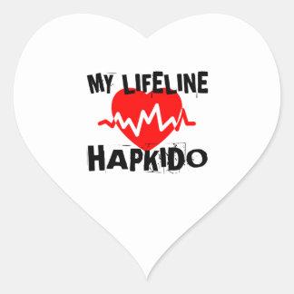 MY LIFE LINA HAPKIDO MARTIAL ARTS DESIGNS HEART STICKER