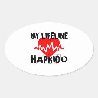 MY LIFE LINA HAPKIDO MARTIAL ARTS DESIGNS OVAL STICKER