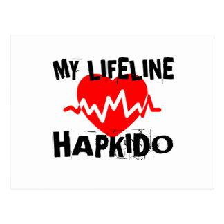 MY LIFE LINA HAPKIDO MARTIAL ARTS DESIGNS POSTCARD
