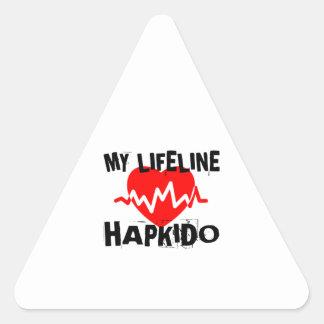 MY LIFE LINA HAPKIDO MARTIAL ARTS DESIGNS TRIANGLE STICKER