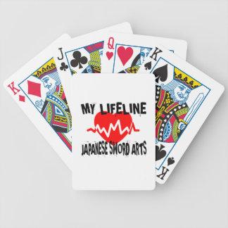 MY LIFE LINA JAPANESE SWORD ARTS MARTIAL ARTS DESI BICYCLE PLAYING CARDS
