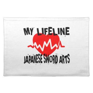 MY LIFE LINA JAPANESE SWORD ARTS MARTIAL ARTS DESI PLACEMAT