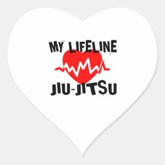 MY LIFE LINA JIU-JITSU MARTIAL ARTS DESIGNS HEART STICKER
