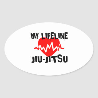 MY LIFE LINA JIU-JITSU MARTIAL ARTS DESIGNS OVAL STICKER