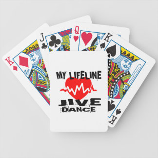 MY LIFE LINA JIVE DANCE DESIGNS BICYCLE PLAYING CARDS