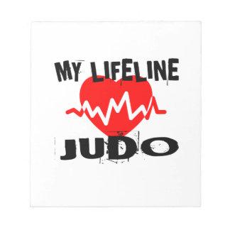 MY LIFE LINA JUDO MARTIAL ARTS DESIGNS NOTEPAD