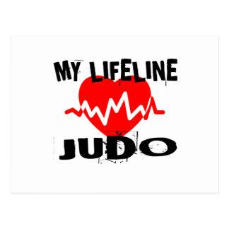 MY LIFE LINA JUDO MARTIAL ARTS DESIGNS POSTCARD