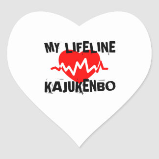 MY LIFE LINA KAJUKENBO MARTIAL ARTS DESIGNS HEART STICKER