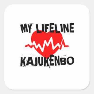 MY LIFE LINA KAJUKENBO MARTIAL ARTS DESIGNS SQUARE STICKER