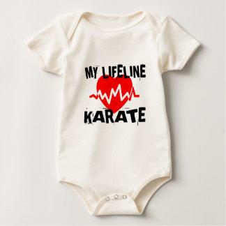 MY LIFE LINA KARATE MARTIAL ARTS DESIGNS BABY BODYSUIT