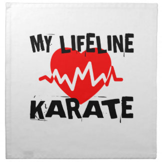 MY LIFE LINA KARATE MARTIAL ARTS DESIGNS NAPKIN