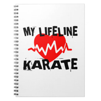 MY LIFE LINA KARATE MARTIAL ARTS DESIGNS NOTEBOOKS