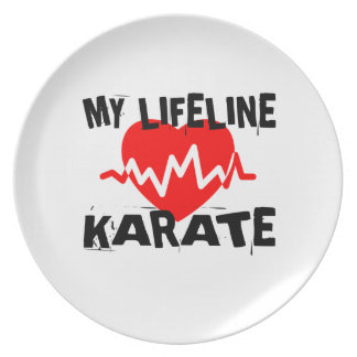 MY LIFE LINA KARATE MARTIAL ARTS DESIGNS PLATE