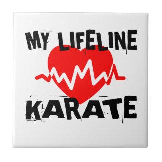 MY LIFE LINA KARATE MARTIAL ARTS DESIGNS TILE