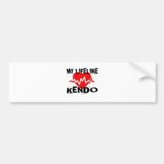 MY LIFE LINA KENDO MARTIAL ARTS DESIGNS BUMPER STICKER