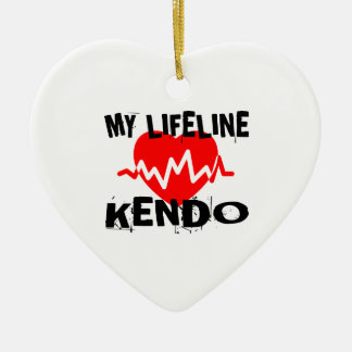 MY LIFE LINA KENDO MARTIAL ARTS DESIGNS CERAMIC ORNAMENT