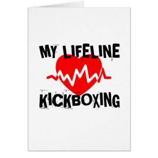 MY LIFE LINA KICKBOXING MARTIAL ARTS DESIGNS CARD
