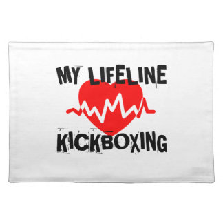 MY LIFE LINA KICKBOXING MARTIAL ARTS DESIGNS PLACEMAT
