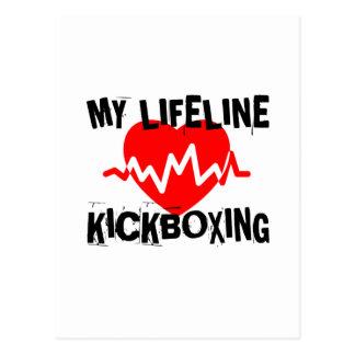 MY LIFE LINA KICKBOXING MARTIAL ARTS DESIGNS POSTCARD