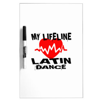 MY LIFE LINA LATIN DANCE DESIGNS DRY ERASE BOARD