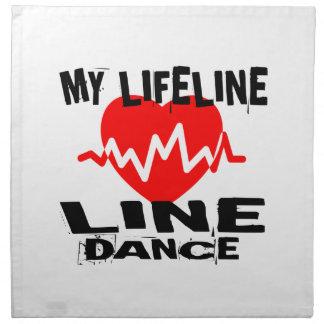 MY LIFE LINA LINE DANCING DANCE DESIGNS NAPKIN