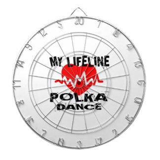 MY LIFE LINA POLKA DANCE DESIGNS DARTBOARD