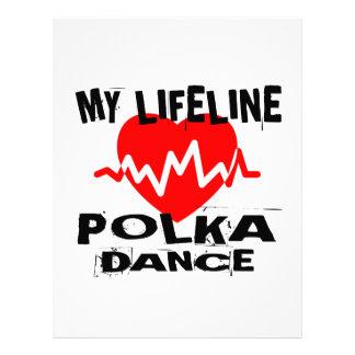 MY LIFE LINA POLKA DANCE DESIGNS LETTERHEAD