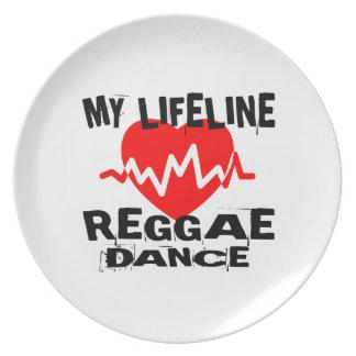 MY LIFE LINA REGGAE DANCE DESIGNS PLATE