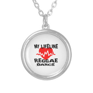 MY LIFE LINA REGGAE DANCE DESIGNS SILVER PLATED NECKLACE