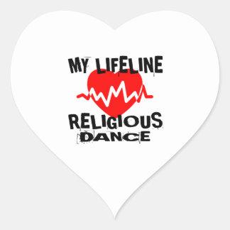 MY LIFE LINA RELIGIOUS DANCE DESIGNS HEART STICKER