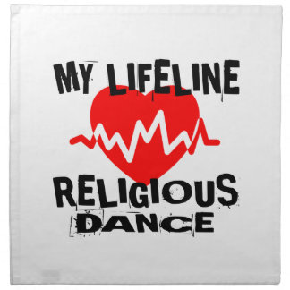 MY LIFE LINA RELIGIOUS DANCE DESIGNS NAPKIN