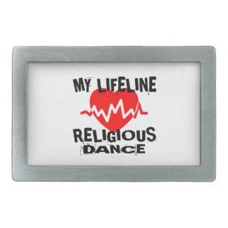 MY LIFE LINA RELIGIOUS DANCE DESIGNS RECTANGULAR BELT BUCKLES
