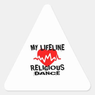 MY LIFE LINA RELIGIOUS DANCE DESIGNS TRIANGLE STICKER