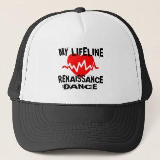 MY LIFE LINA RENAISSANCE DANCE DESIGNS TRUCKER HAT