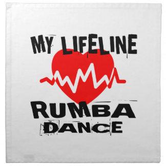 MY LIFE LINA RUMBA DANCE DESIGNS NAPKIN