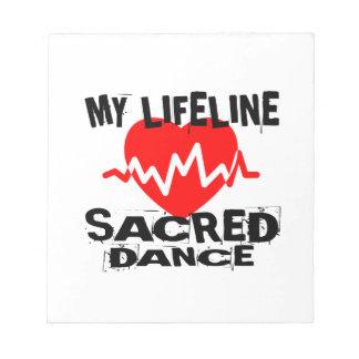 MY LIFE LINA SACRED DANCE DESIGNS NOTEPAD