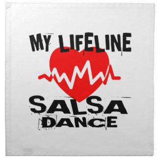 MY LIFE LINA SALSA DANCE DESIGNS NAPKIN