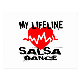 MY LIFE LINA SALSA DANCE DESIGNS POSTCARD